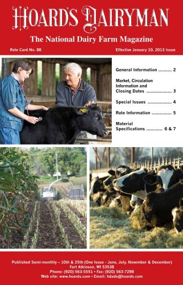 2013 Rate Card - Hoards Dairyman