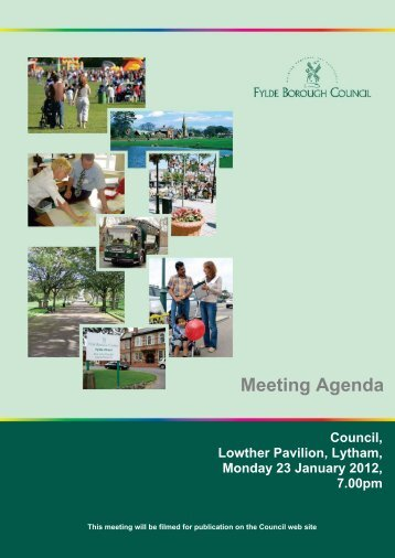 Meeting Agenda - Fylde Borough Council