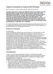 Vergleich und Auswahl von modernen HPLC-RP-Säulen - bei NOVIA