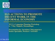 ilo actions to promote decent work in the informal economy