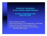 University Connections to the Venture Capital Network - MIT ...