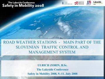 part of the slovenian traffic control and management system