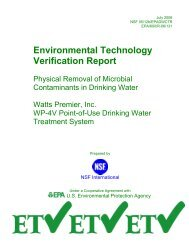 US EPA ETV Physical Removal of Microbial Contaminants in ...
