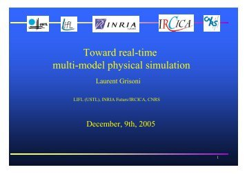 Toward real-time multi-model physical simulation - LIFL