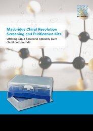 Maybridge Chiral Resolution Screening and ... - Acros Organics