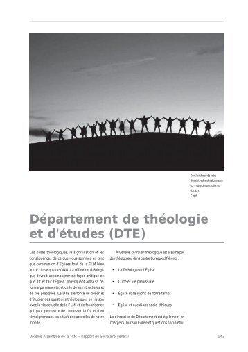 Département de théologie et d'études (DTE) - LWF Tenth Assembly ...