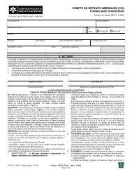 COMPTE DE RETRAITE IMMOBILISÉ (CRI) FORMULAIRE D ...