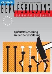 Qualitätssicherung in der Berufsbildung - Cedefop - Europa
