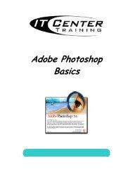 Adobe Photoshop Basics - Academic Health Center Training