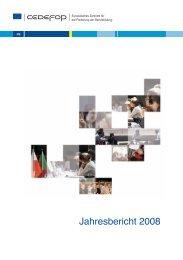 Jahresbericht 2008 / CEDEFOP - Cedefop - Europa