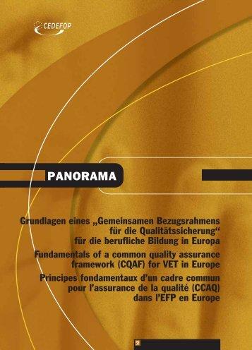 """Grundlagen eines """"Gemeinsamen ... - Cedefop - Europa"""
