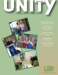 Newsletter March 2009 - Unity House