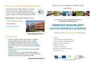Informační leták - Centrum pro výzkum toxických látek v prostředí
