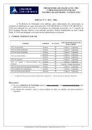 edital vestibular agendado - Universidade Católica de Brasília