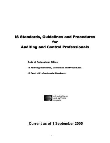 auditing standards and guidelines Code of professional ethics procedures for is auditing 4 objectives for isaca's standards  030 professional ethics and standards 040 competence 050  - a free powerpoint ppt presentation (displayed as a flash slide show) on powershowcom - id: 15ce88-odu1m.