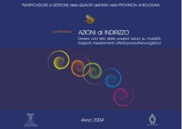AZIONI di INDIRIZZO - Aria.provincia.bologna.it - Provincia di Bologna