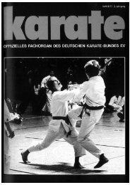 DKB-Fachorgan Nr. 9 - Chronik des deutschen Karateverbandes