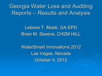 Georgia Water Loss and Auditing Reports – Results and Analysis