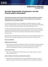Socially Responsible Investment: are the French public ... - Eiris