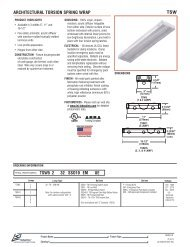 ARCHITECTURAL TORSION SPRING WRAP TSW - LSI Industries Inc.
