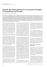 Zukunft der Fördersysteme für erneuerbare Energien in Deutschland ...