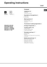 Operating Instructions - Интернет-магазин бытовой техники ...