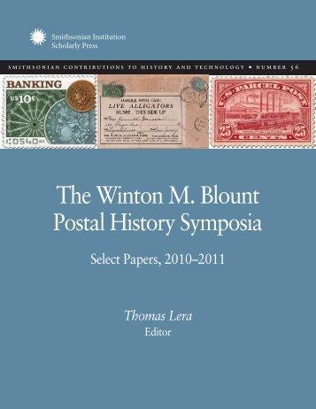The Winton M. Blount Postal History Symposia - Smithsonian ...