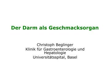 Dr. med. Ch. Beglinger - Winterthurer Fortbildungskurs