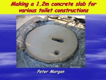 Making a 1.2m concrete slab for various toilet ... - EcoSanRes