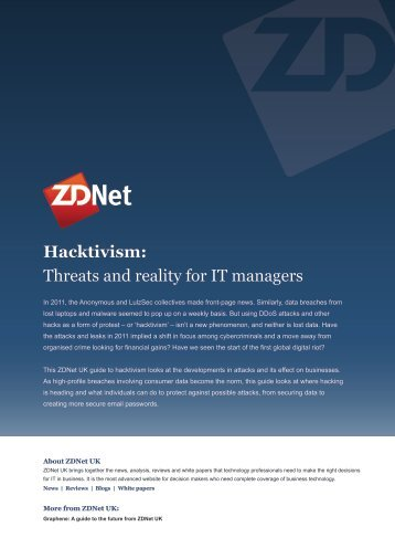 Hacktivism: Threats and reality for IT managers - CBS Interactive UK