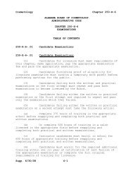chapter 250-x-6 examinations - Alabama Administrative Code