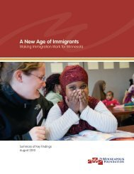 A New Age of Immigrants - The Minneapolis Foundation