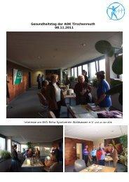 Gesundheitstag der AOK Tirschenreuth 08.11.2011 - Bvs ...
