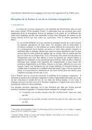 Réception de la fiction: le cas de la résistance ... - L2C2 - CNRS