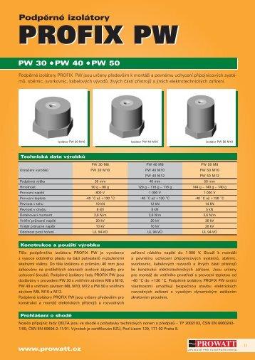 Katalog výrobků PROFIX PW - Prowatt