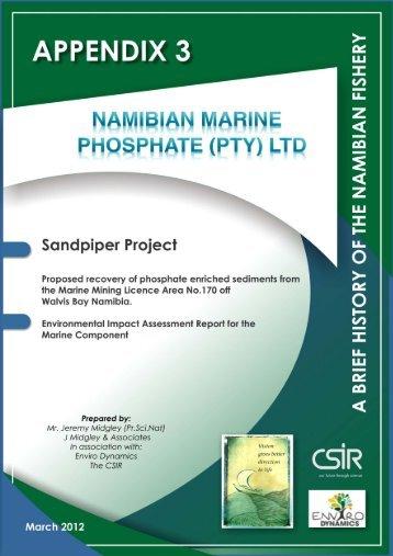 Namibian Fishery - Enviro Dynamics Namibia