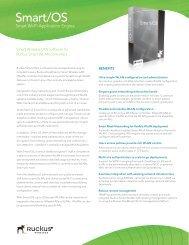 Ruckus Smart OS Datasheet - VoIP Supply