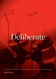 Deliberate - Subject guide - University of Canterbury
