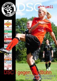 DSC Aktuell Nr.: 0152 / Ausgabe: 07.10.2012 - Delbrücker SC