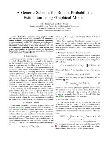 A Generic Scheme for Robust Probabilistic Estimation using ...