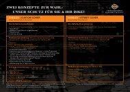 Zwei KonZepte Zur wahl - Harley-Davidson Insurance Services