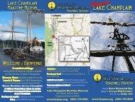 Rack Card 2011 FINAL sm - Lake Champlain Maritime Museum