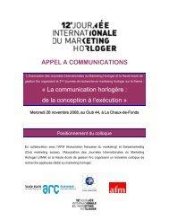 APPEL A COMMUNICATIONS - Journées internationales du ...