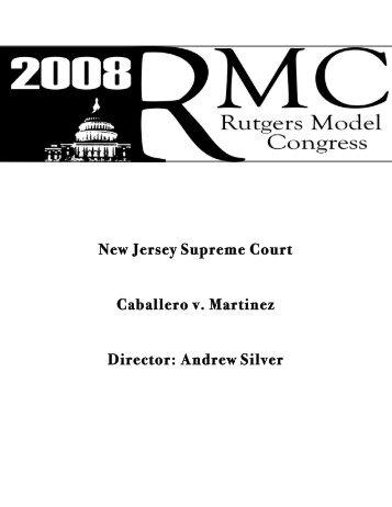 New Jersey Supreme Court Caballero v. Martinez Director ... - IDIA