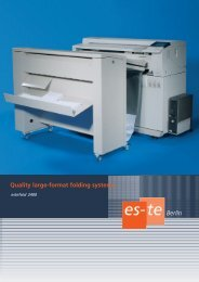 Quality large-format folding systems Berlin - Es-Te