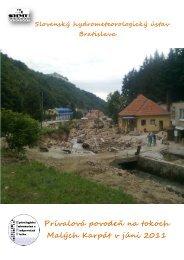 Prívalová povodeň na tokoch Malých Karpát v júni 2011