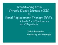 Transitioning from Chronic Kidney Disease (CKD) to Renal ...