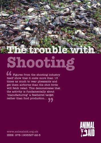 Download The Trouble with Shooting - Animal Aid