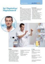 Dipl. Pflegefachfrau/ Pflegefachmann HF - Gesundheitsberufe Bern