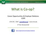 What is Co-op? - Missouri S&T Career Opportunities & Employer ...